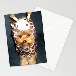 Yorkie Martian Giraffe | Dogs | nb Stationery Cards