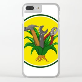 Agave With Hammer Spanner Pliers Water Color Clear iPhone Case