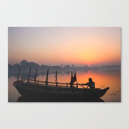 Sunrise on the Yamuna Canvas Print