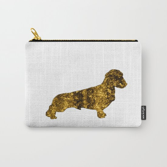 I LOVE my Dachshund I - Luxury glitter dog design Carry-All Pouch