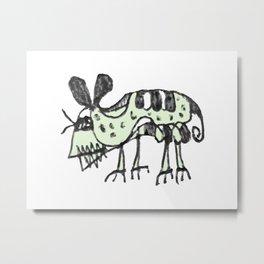 Monster Rat Pencil Drawing Illustration Metal Print