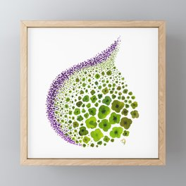 Paths of Color [green & purple] Framed Mini Art Print