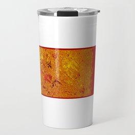 Gold metal sun illustration digital texture pattern painting Travel Mug