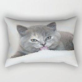 Snow Kitten Rectangular Pillow