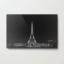 Parisian Night Light Metal Print