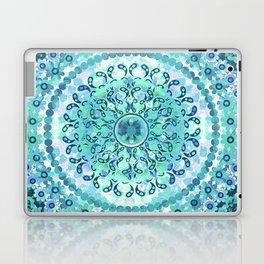 Aqua Mosaic Mandala Laptop & iPad Skin