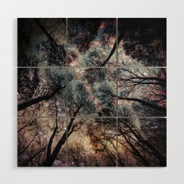 Starry Sky in the Forest Wood Wall Art