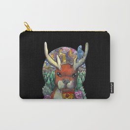 deer eating pizza Carry-All Pouch
