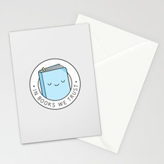In books we trust Stationery Cards