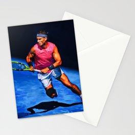 Rafa Nadal at Australian Open 2020. Digital artwork print. Tennis fan art gift. Stationery Cards