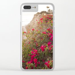 Seaside Bougainvillea Clear iPhone Case