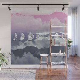 Pink Moontime Wall Mural