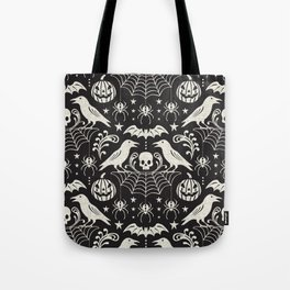 All Hallows' Eve - Black Ivory Halloween Tote Bag