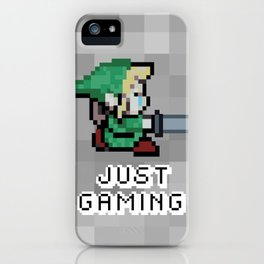 JUST GAMING iPhone Case