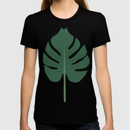 Cat and Plant 24: Meowstera Leaf T-shirt
