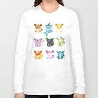 eevee Long Sleeve T-shirts featuring Eevee Evolutions by Nozubozu