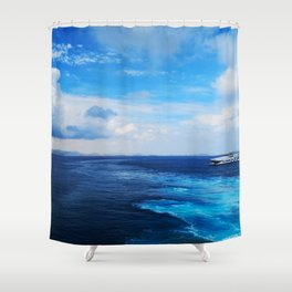 50 shades of Blue i Shower Curtain