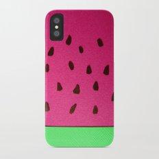 Watermelon Papercut iPhone X Slim Case