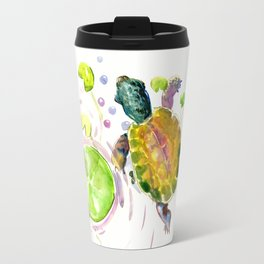 Little Turtle and Lily Pads Travel Mug