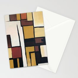 Composition with squares and rectangles Stationery Cards