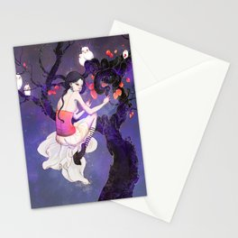 A Flight in the Night Stationery Cards