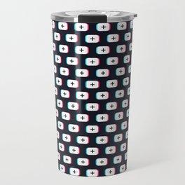 TikTok app button. Pattern design - Dark version Travel Mug