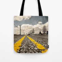 road Tote Bags featuring Road by Color and Patterns