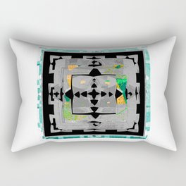 Bold Abstract Texture Study Rectangular Pillow