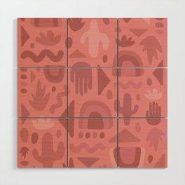 Mauve Cutout Print Wood Wall Art