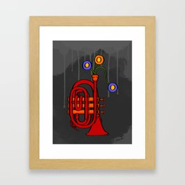 Happy to see my pocket trumpet Framed Art Print