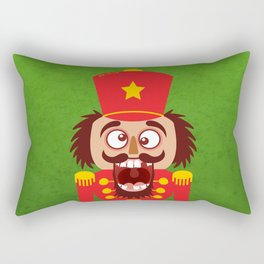 A Christmas nutcracker breaks its teeth and goes nuts Rectangular Pillow