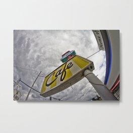 Double R Diner sign in Twin Peaks (Fisheye) Metal Print