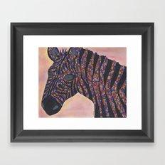 Zebra Gone Wild Framed Art Print