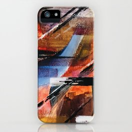 Abstract in Orange iPhone Case