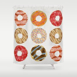 Half Dozen Donuts Shower Curtain