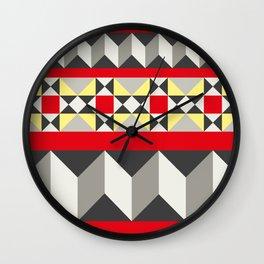 Barcelona Tiles #4 Wall Clock