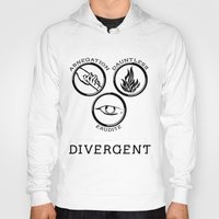 divergent Hoodies featuring Divergent (Black) by Lunil