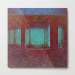 Into the City, Structure Windows Grunge Metal Print