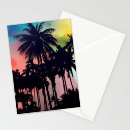 palm tree on colors  Stationery Cards