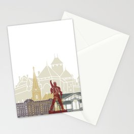 Montreux skyline poster Stationery Cards