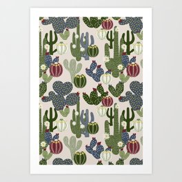 Desert Vibrance Art Print