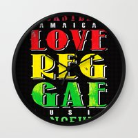 jamaica Wall Clocks featuring Jamaica. by Grant Pearce