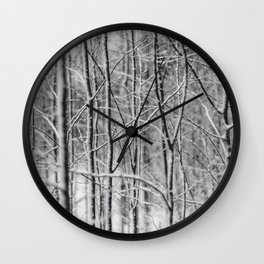 Winter gris Wall Clock