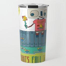 Even robots fall in love Travel Mug