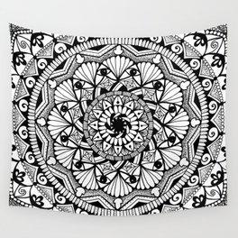 Black & White - I See You - Mandala Wall Tapestry