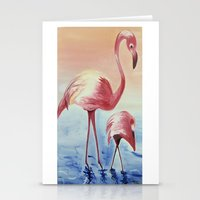 flamingos Stationery Cards featuring FLAMINGOS by ArtSchool