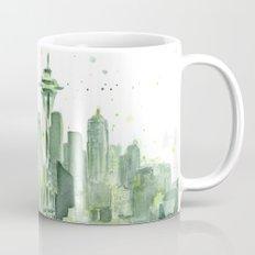 Seattle Watercolor Painting Mug