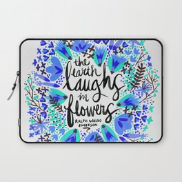 The Earth Laughs in Flowers – Turquoise & Blue Laptop Sleeve