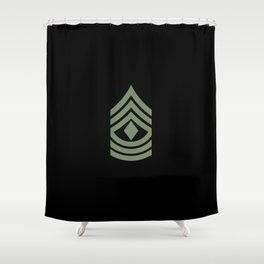1st Sergeant (Green) Shower Curtain