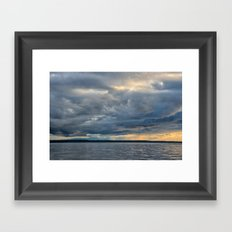 Sunbeams through the Rain Framed Art Print